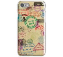 Vintage Passport Stamps iPhone Case/Skin