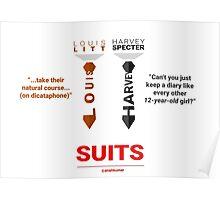 SUITS | DIALOGUE  HARVEY - LOUIS Poster