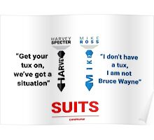 SUITS | DIALOGUE - MIKE-HARVEY Poster