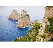 Faraglioni rocks on Capri Photographic Print