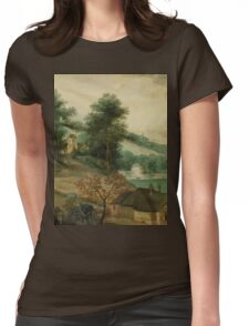 Jacob Grimmer - Landscape with Cottages  Womens Fitted T-Shirt