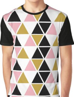 Pink, Gold, & Black Triangle Graphic T-Shirt