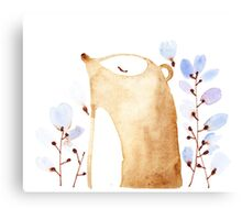 Bear in Flowers Canvas Print