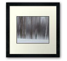 The Whisper of Winter Wood Framed Print