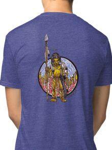 Native american Skate boarder Tri-blend T-Shirt