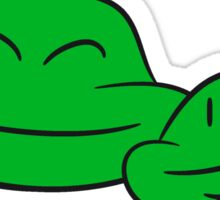 2 frog friends team, family, children papa mama faces heads happy love couple Sticker
