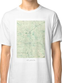 Atlanta Map Blue Vintage Classic T-Shirt