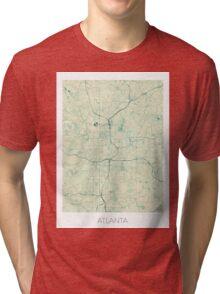 Atlanta Map Blue Vintage Tri-blend T-Shirt