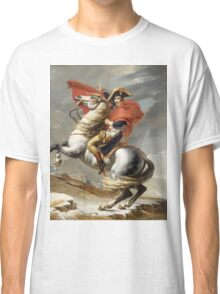 Jacques-Louis David - Bonaparte . The Emperor Napoleon , Napoleon, Fashion Portrait Classic T-Shirt