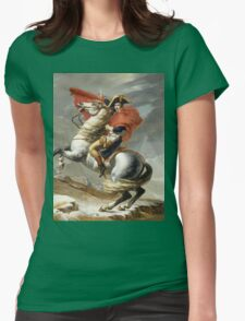 Jacques-Louis David - Bonaparte . The Emperor Napoleon , Napoleon, Fashion Portrait Womens Fitted T-Shirt