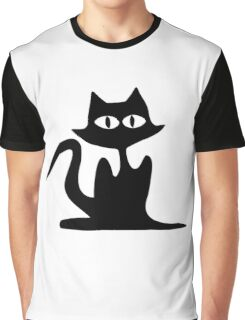 Halloween Cat Graphic T-Shirt