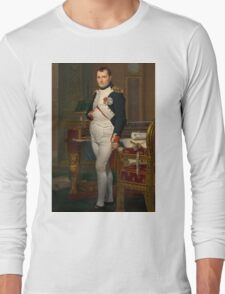 Jacques-Louis David - The Emperor Napoleon 1812 . Napoleon, Fashion Portrait Long Sleeve T-Shirt