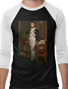 Jacques-Louis David - The Emperor Napoleon 1812 . Napoleon, Fashion Portrait Men's Baseball ¾ T-Shirt