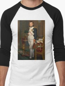 Jacques-Louis David - The Emperor Napoleon 1812 . Napoleon, Fashion Portrait Men's Baseball ¾ T-Shirt