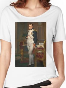 Jacques-Louis David - The Emperor Napoleon 1812 . Napoleon, Fashion Portrait Women's Relaxed Fit T-Shirt