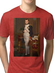Jacques-Louis David - The Emperor Napoleon 1812 . Napoleon, Fashion Portrait Tri-blend T-Shirt