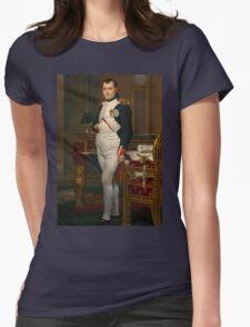 Jacques-Louis David - The Emperor Napoleon 1812 . Napoleon, Fashion Portrait Womens Fitted T-Shirt