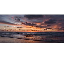 Dutch Seascapes, Evening Red on a winter eve Photographic Print