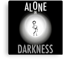 Alone in DARKNESS Canvas Print