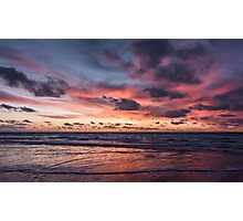 Dutch Seascapes, Evening Red on a winter eve 2 Photographic Print