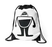 Ostro, the black robot Drawstring Bag