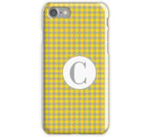 C Checkard iPhone Case/Skin
