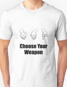 Rock Paper Scissors Weapon T-Shirt