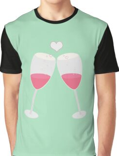 champagne glasses with heart Graphic T-Shirt