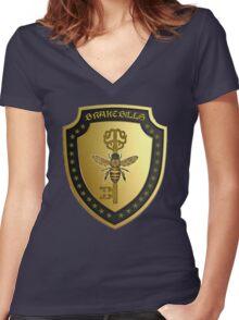 Brakebills Crest Women's Fitted V-Neck T-Shirt