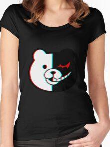 Danganronpa Monokuma 3D Women's Fitted Scoop T-Shirt