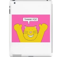 Thank You Ginger Cat iPad Case/Skin