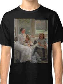 James Tissot - Portrait of Mrs Catherine Smith Gill and Two of her Children 1877 Classic T-Shirt