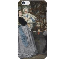 James Tissot - Portrait of the Marquis and Marchioness of Miramon and their children1865 iPhone Case/Skin