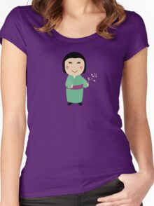 kokeshi doll Women's Fitted Scoop T-Shirt
