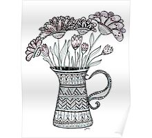 Pitcher of Flowers Poster