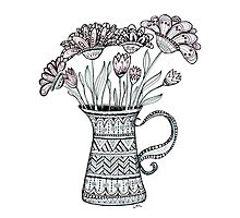 Pitcher of Flowers Photographic Print