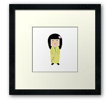 kokeshi doll Framed Print