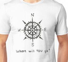 Compas - Travel - Where will you go? Unisex T-Shirt