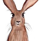 Hare watercolor painting by Monika Howarth