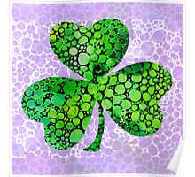 Shamrock Art by Sharon Cummings Poster