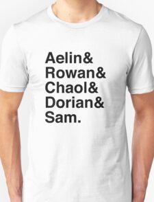 Aelin & Rowan & Chaol & Dorian & Sam. (Throne of Glass) Unisex T-Shirt