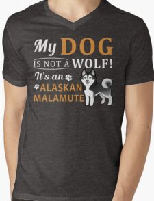 Alaskan Malamute Mens V-Neck T-Shirt