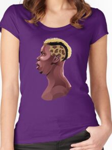 Paul Pogba Women's Fitted Scoop T-Shirt
