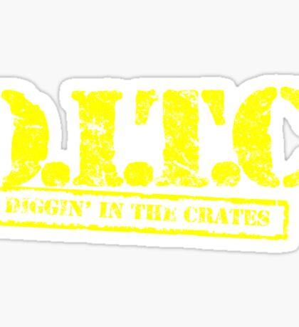 DITC crew replica Rawkus tshirt - Diggin in the crates late 90s Sticker