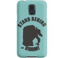 Stand Behind the Moustache! Samsung Galaxy Case/Skin