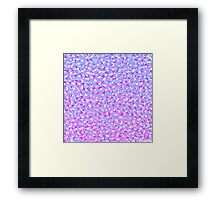 Girly Modern Purple Teal White Abstract Triangles Framed Print
