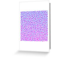 Girly Modern Purple Teal White Abstract Triangles Greeting Card