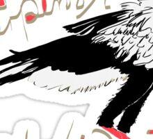 Secretarybird, Sagittarius serpentarius  Sticker
