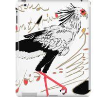 Secretarybird, Sagittarius serpentarius  iPad Case/Skin