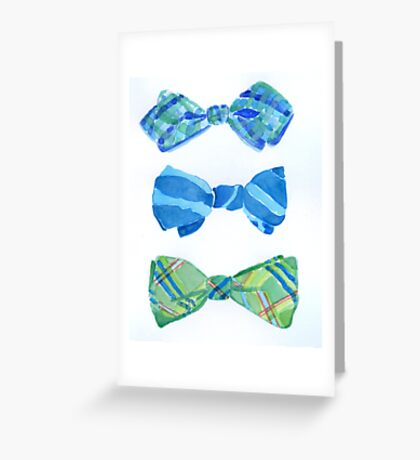 Bow Ties Greeting Card